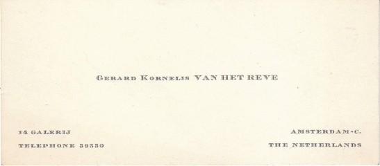 Reve's visitekaartje
