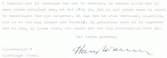 brief aan hoekstra