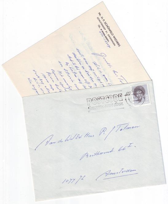brief aan tolman